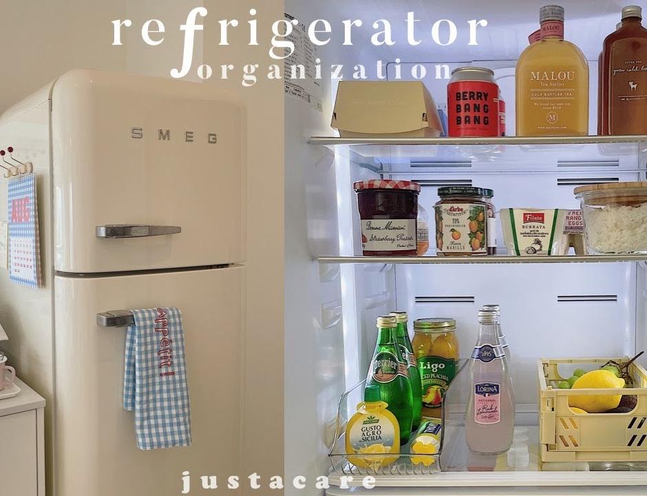 Smeg refrigerator organization idea